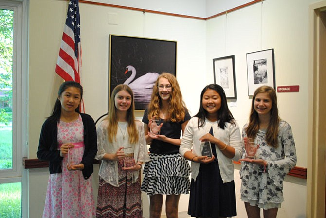 Winners (from left): Sabrina Chang, Jenna Ainge, Muriel Wallach, Maddy Kim, and Charlotte Karanik.