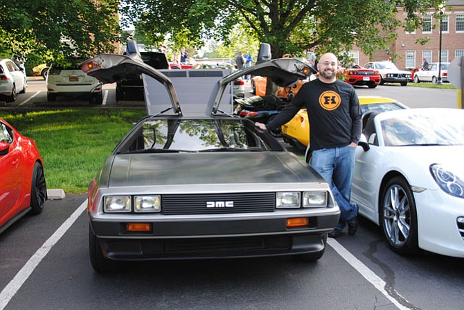 Matt Spinapolice, Systems Engineer, of Herndon with his DeLorean DMC 12.