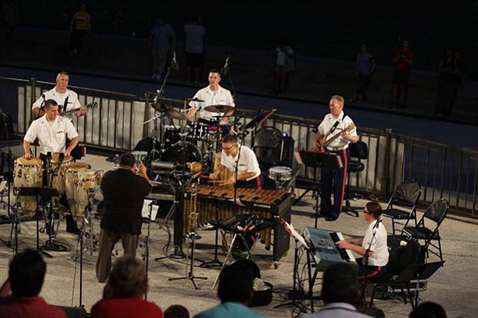 The U.S. Marine Band - Latin Jazz Ensemble will lead off the free Thursday night concerts at Glen Echo Park on June 15.