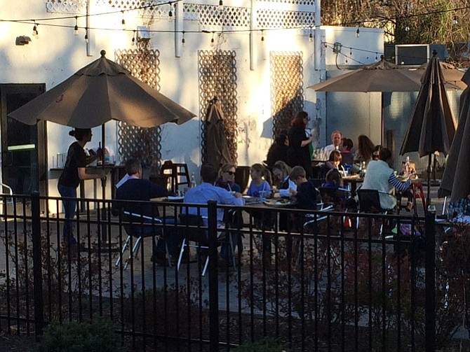 DRP Belle Haven's patio is worth the wait on a nice summer's evening.