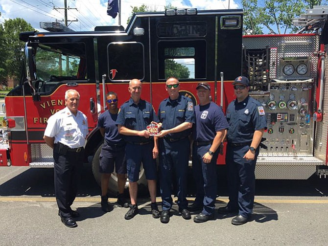 Vienna Firefighter Receives Senior Firefighter Shield