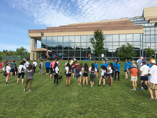 Hundreds gathered Saturday morning on the south lawn of the Fairfax County Government center to participate in the Just Ask Walk/Run for Freedom.