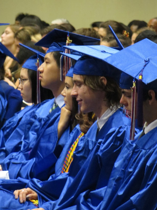 Students from Thomas S. Wootton High School graduate on Wednesday, May 31.
