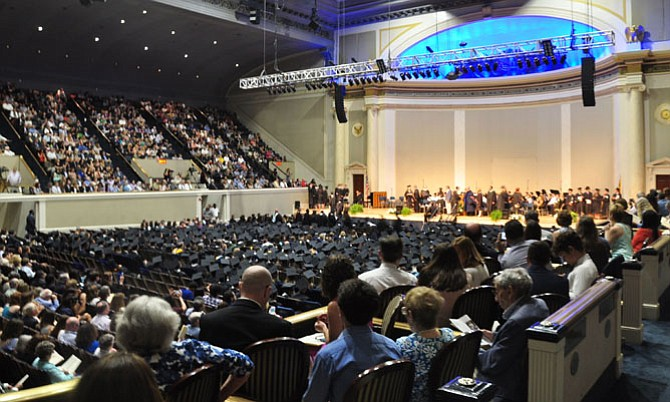 Walt Whitman High School's graduation ceremony was held on Monday, June 5 in DAR Constitution Hall.