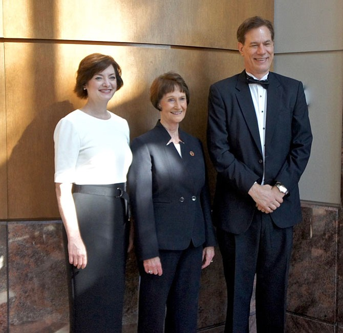 "At-large Lady & Lord Fairfax, Jane Miscavage and John J. ""Jeff"" Lisanick, with the Fairfax County Board of Supervisors Chairman Sharon Bulova."