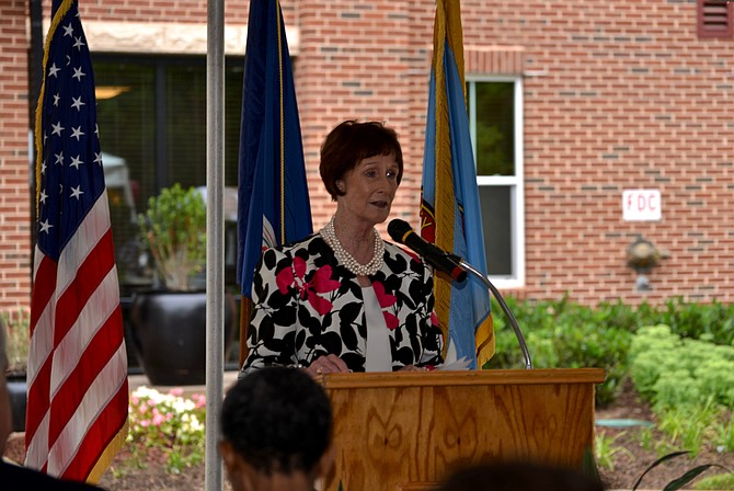 "Chairman of the Fairfax County Board of Supervisors Sharon Bulova described the grand-opening of the ""workforce housing"" Residences at Government Center as a great step forward in meeting the county's affordable housing challenges. ""And at no additional cost to our taxpayers."""