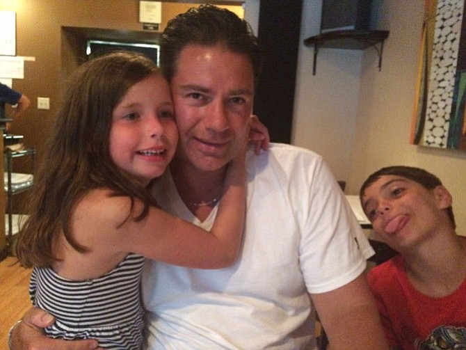 Jason Angerosa of Reston with daughter Skylar, 8, and son Ronan, 10, enjoying their annual stay in Rehoboth Beach, Del. in 2016.