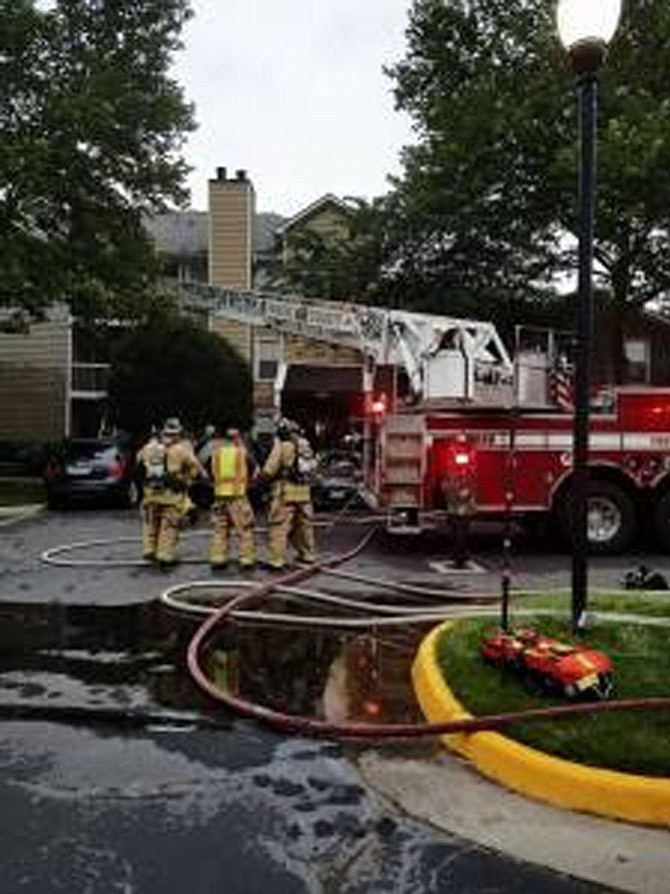 Damages from a kitchen fire were estimated to be approximately $93,750.