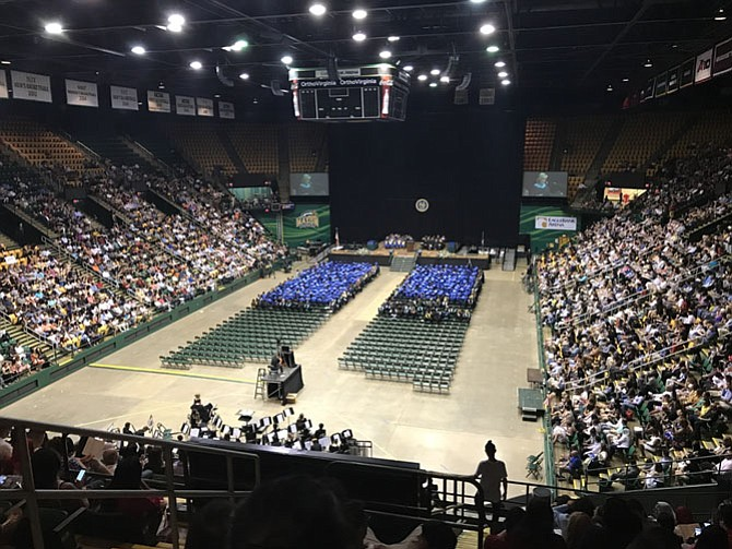 The stands at Eagle Bank filled up fast as family and friends joined to support the Lee High School's graduating class.