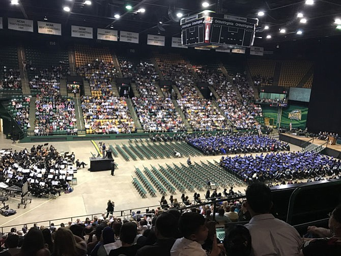 Friends and family join together at Eagle Bank Arena to celebrate the achievements of Thomas A. Edison High School seniors.