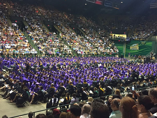 More than 700 Lake Braddock seniors graduate together in the Eaglebank arena.