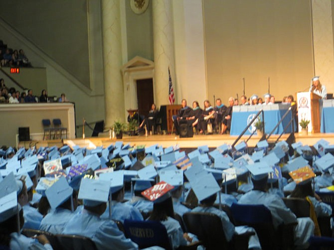 Yorktown High School class of 2017 inside DAR Constitution Hall on June 21.