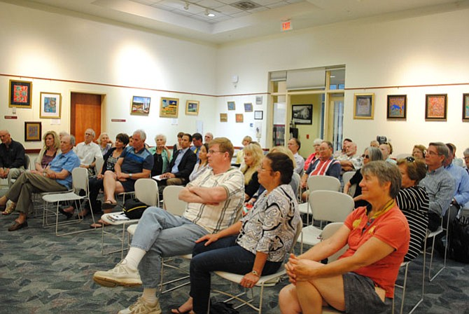 Great Falls Citizens Association members and non-members both attended the town hall meeting to be informed about the community projects.
