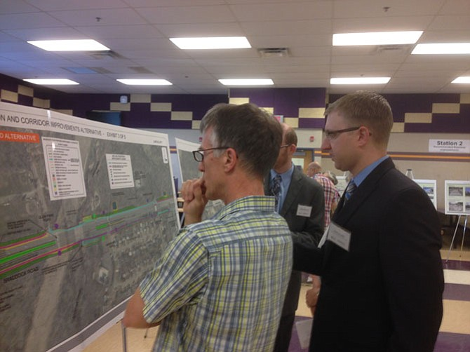 One of the Braddock Road Multimodal Study community information meetings was held on June 26 at Lake Braddock Secondary School. Community's input helped shape the intersection improvement options.