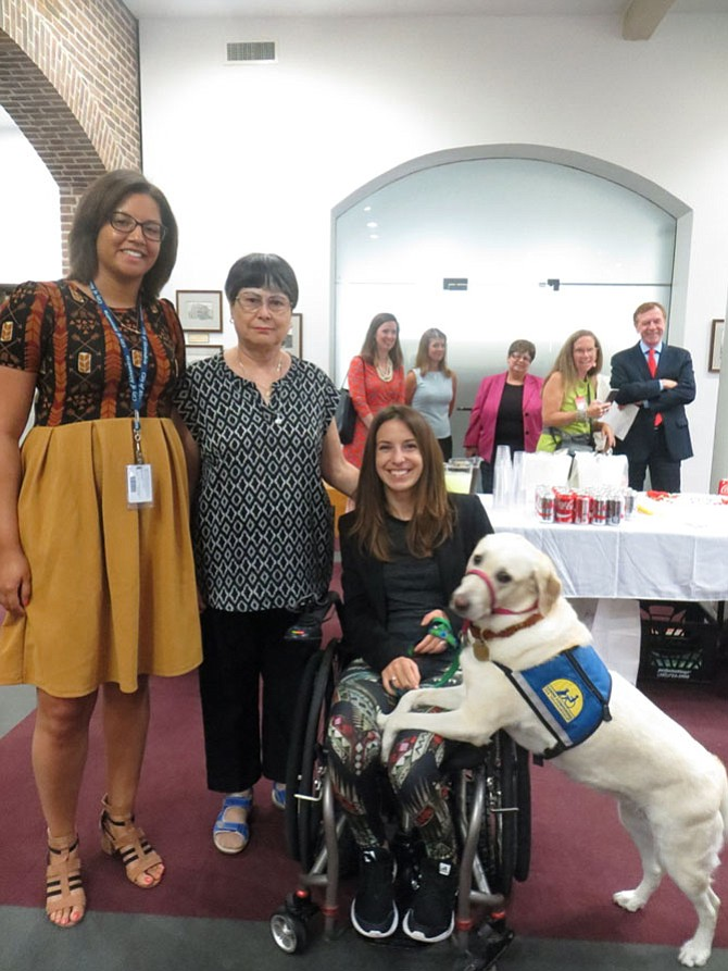 From left: Miranda Branch, Ruth Soto, Daniela Schirmer, and service dog Zandra.