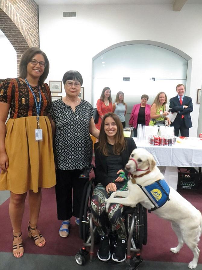 From left: Miranda Branch, Ruth Soto, Daniela Schirmer, and service dog Zandra.
