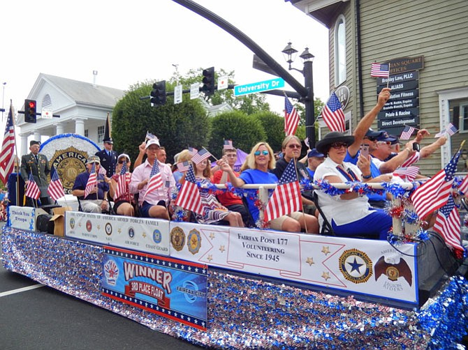 American Legion Post 177's float.