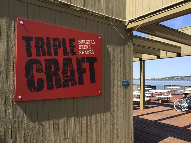 Triple Craft, a new resident at the former Indigo Landing, offers up burgers, beer, shakes — and an unbeatable view.