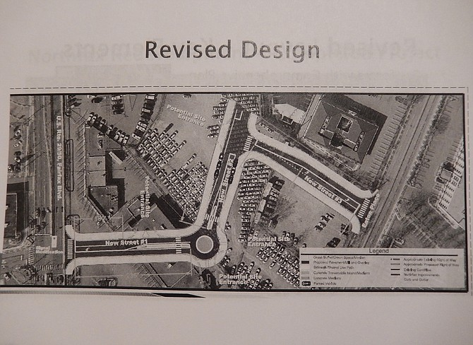Drawing showing the design of the proposed University Drive extension.