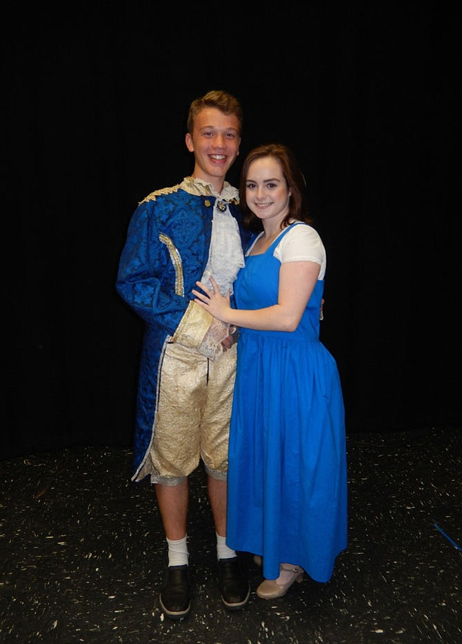 "John Henry Stamper and Molly Van Trees are the leads in ""Beauty and the Beast."""
