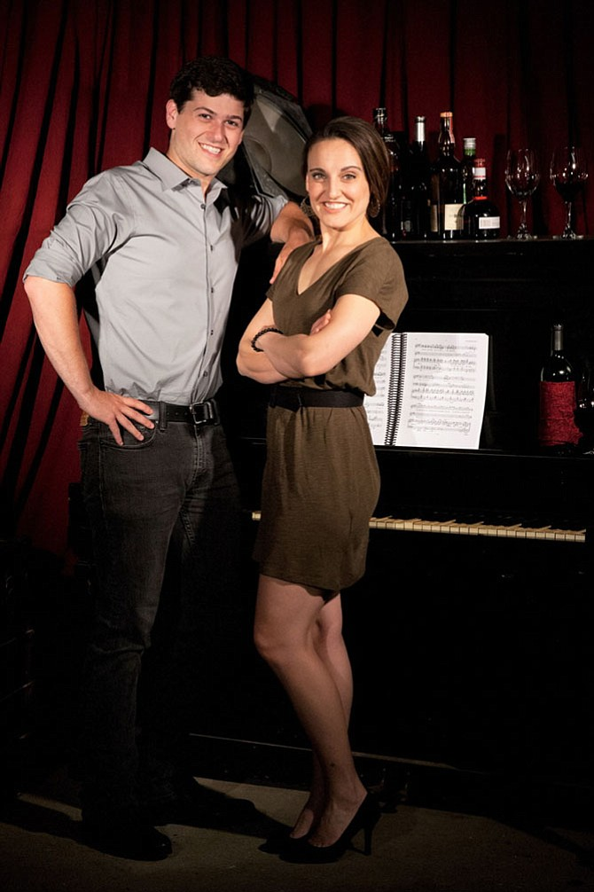 "Matthew Hirsh and Karen Vincent in ""Rodgers and Hammerstein's A Grand Night for Singing"" at NextStop Theatre in Herndon."