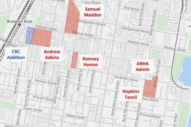Five of six ARHA redevelopments, underway or slated.