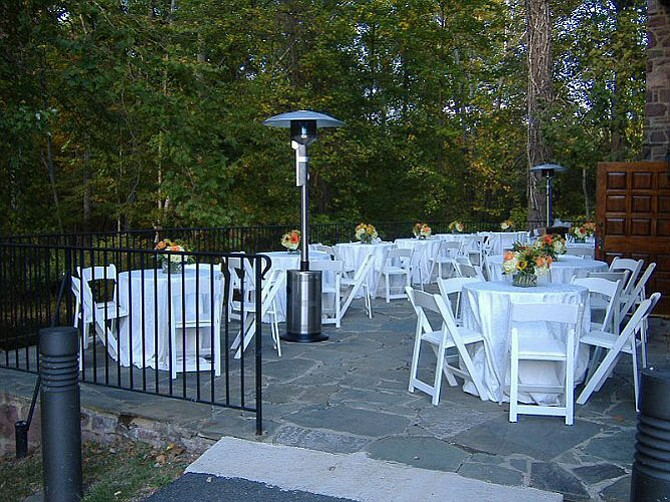 The Cabell's Mill patio.
