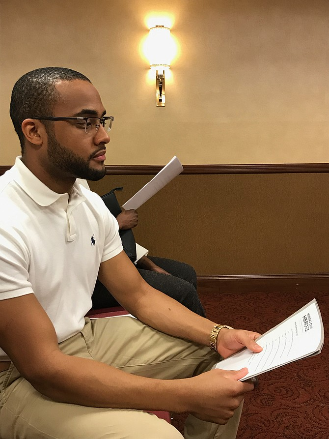 Darrell Taylor of Falls Church is transitioning out of the military. He attended the employment workshop offered by  Hiring Our Heroes at the Military Hiring Fair on Thursday, July 13. Taylor learned how to create a standout resume, a strong personal statement, and digital identity.