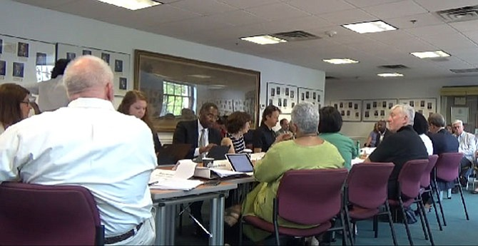 The Ad Hoc Joint City-Schools Facility Investment Task Force at its July 13 meeting.