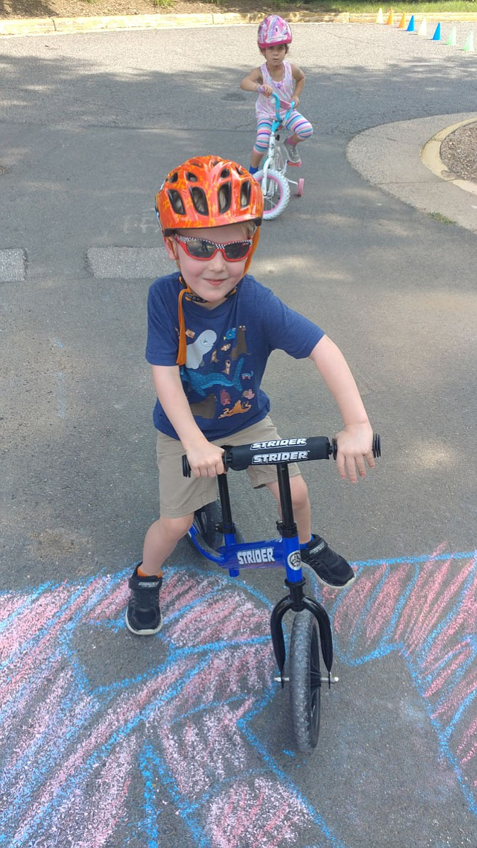 JP Vaughan was one of the students at Chesterbrook Academy Preschool in Centreville helping raise money through a Trike-A-Thon for St. Jude Children's Research Hospital.