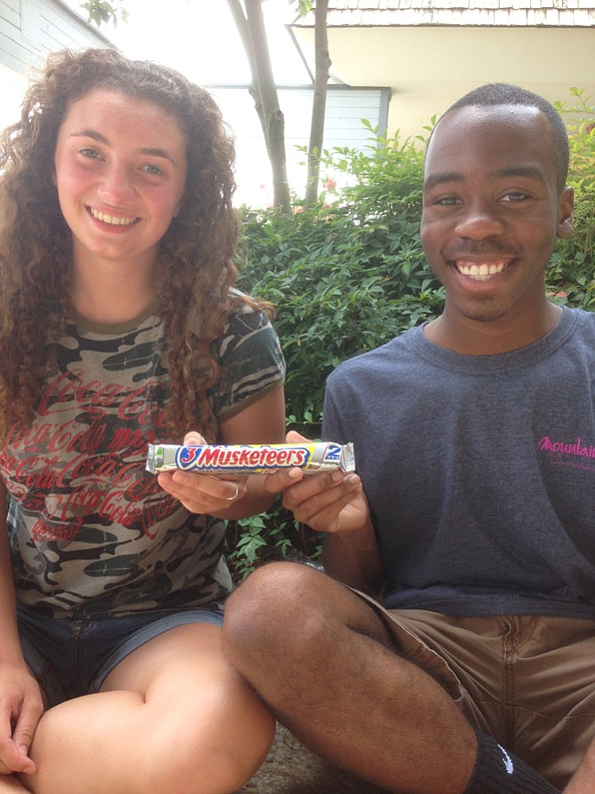 Audrey Wever and Rodney Wrice were throwing shine, via candy bars at West Springfield High School.