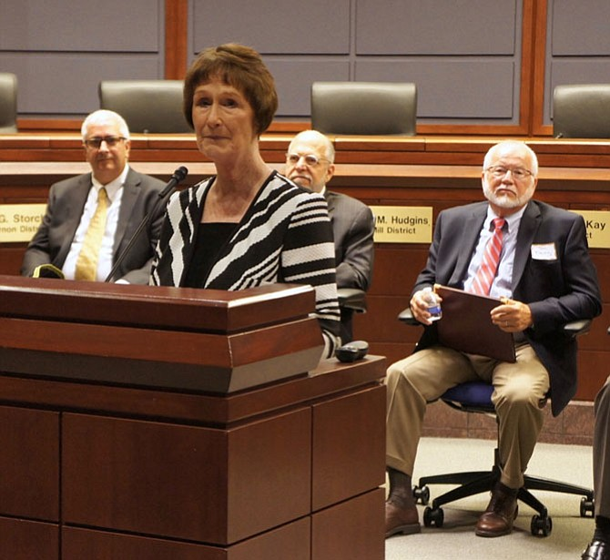 "Fairfax County Board of Supervisors Chairman Sharon Bulova was the host of the Environmental Showcase at the Government Center: ""We've come a long way since the adoption of the first Environmental Vision, but there's always work to be done."""