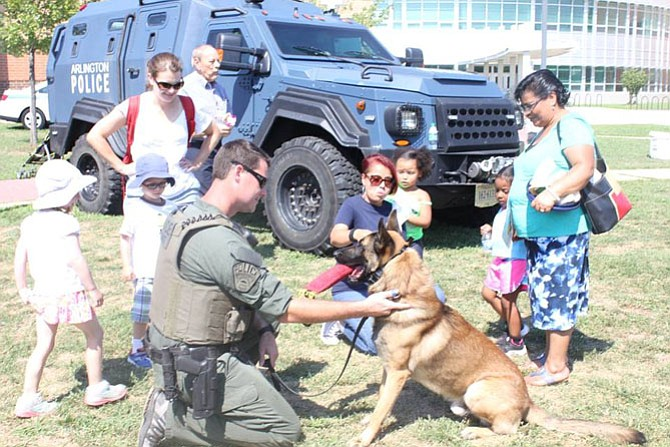 On Saturday, Aug. 26, police canines will be on part of the Arlington Police Block Party, 9 a.m.-4 p.m. at Kenmore Middle School, 200 S. Carlin Springs Road. The event includes various family friendly activities such as the ACPD Kids Zone, K9 Demonstrations, food and beverages. Visit www.facebook.com/ArlingtonCountyPolice/ for more.