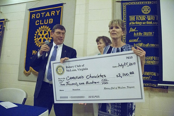 McLean Rotary Club Supports Cameron's Chocolates