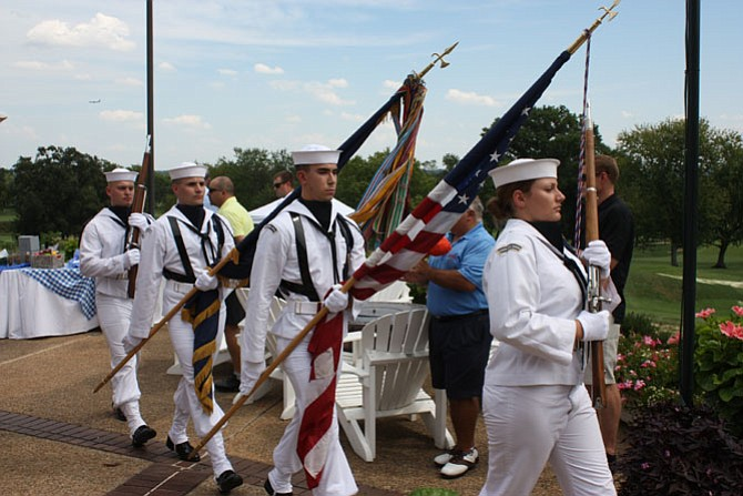 Color guard during a past Patriot Day event at the Belle Haven Country Club.