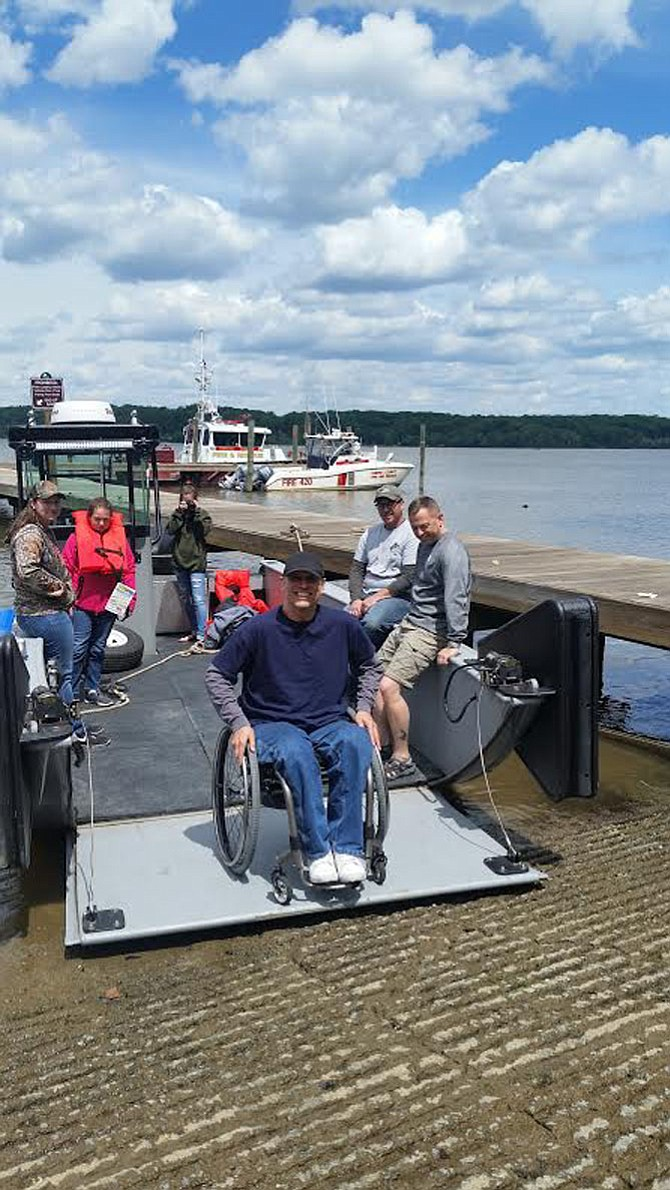 The Veterans Fishing Adventure's borrowed vessel is wheelchair accessible.