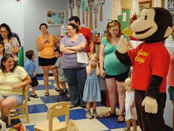 On Saturday, Aug. 26, Curious George comes out for Storytime Live. 10 a.m.-noon at Kiddie Academy of Reston, 12320 Pinecrest Road, Reston. Visit www.kastorytime.com/ for more.