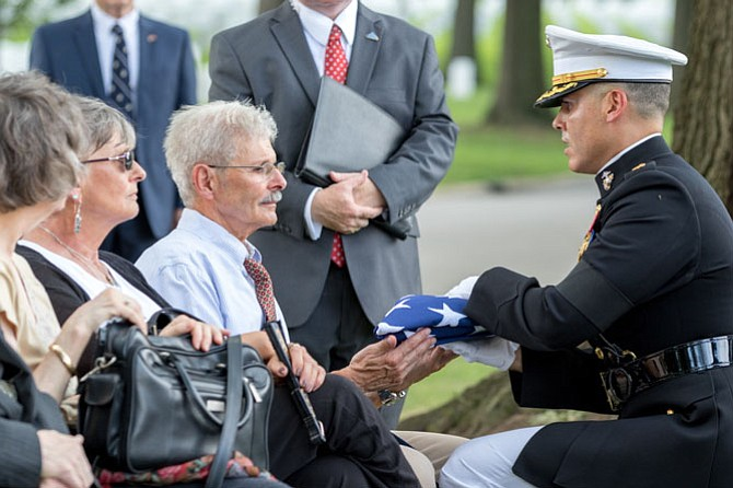 Norman T. Hatch Funeral at Arlington National Cemetery, August 17, 2017 (Photo by Mark Mogle)