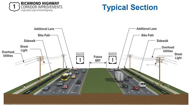 "Proposed ""superstreet"" — a widened highway with a built-in divider for future Bus Rapid Transit development."