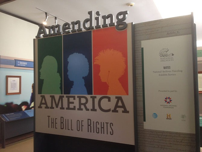 The Bill of Rights exhibit at Gunston Hall runs through Oct. 21.
