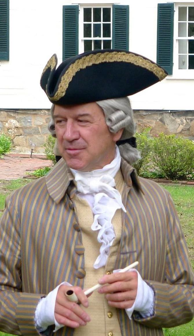 Chuck Aldrich as Richard Conway, 1740-1806, an Alexandria gentleman, merchant and politician, as well as a Revolutionary War captain and friend of George Washington.