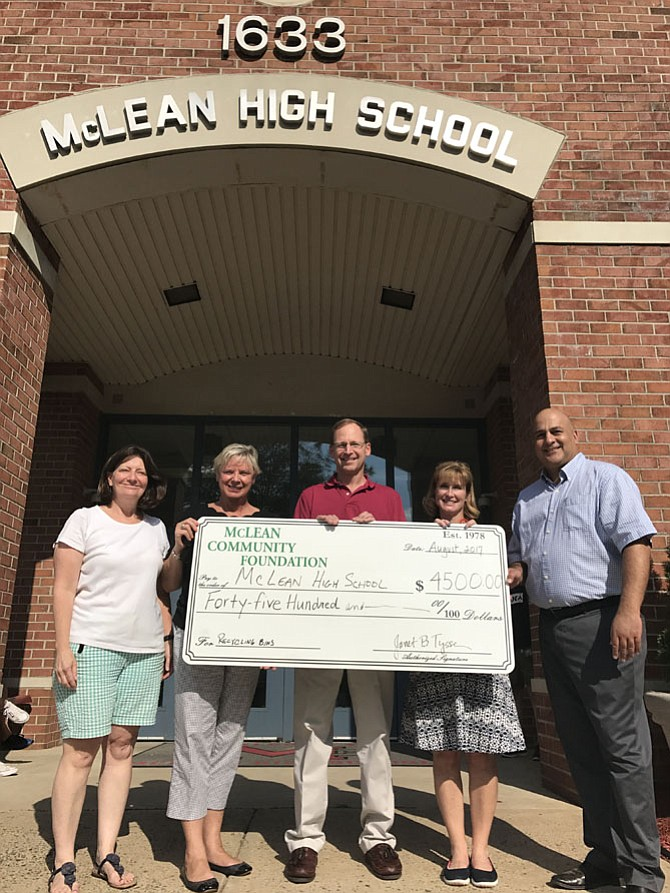 Check presentation to McLean High.