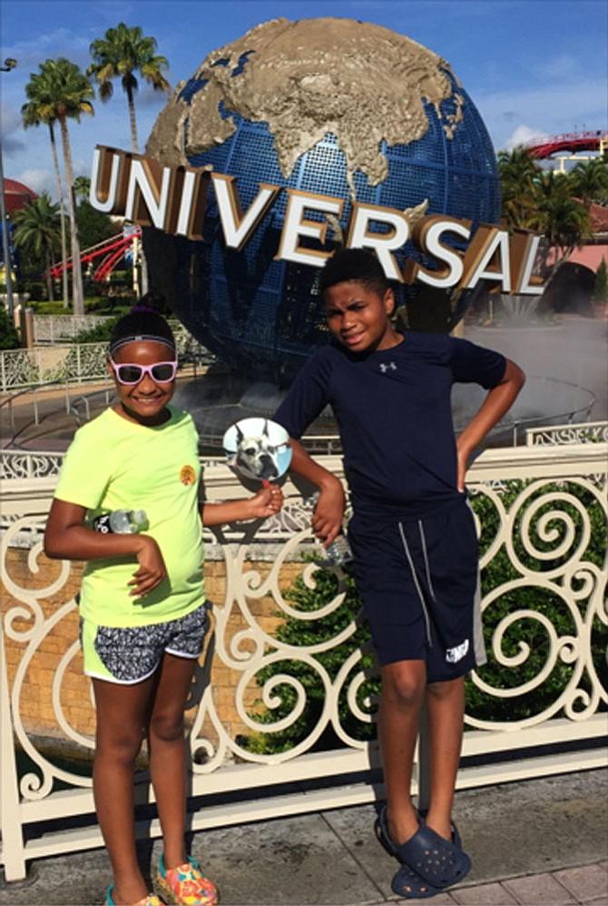 Ella and Edmund Tetteh at Universal Orlando