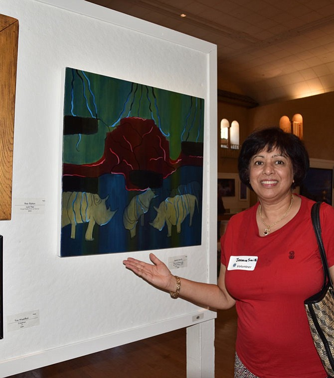 Artist Jasmin Smith displays her work during the art shows throughout Labor Day weekend at Glen Echo Park.