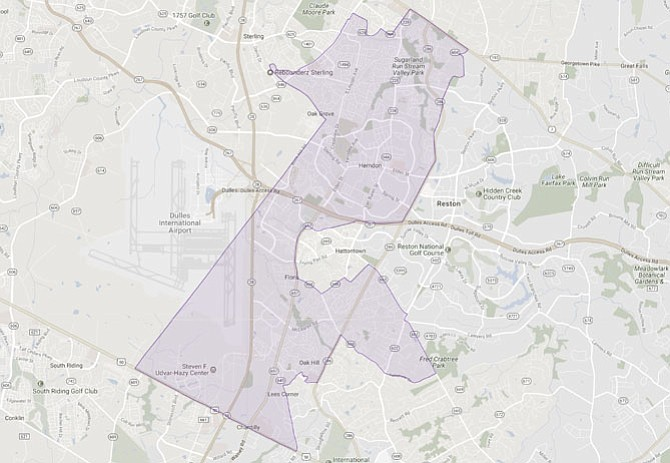 The 86th House District stretches from Chantilly through Oak Hill into Herndon and Sterling.