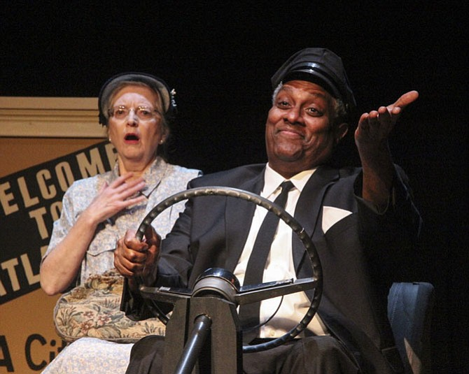 "Patricia Kratzer stars as Daisy and Kevin Sockwell stars as Hoke in LTA's production of ""Driving Miss Daisy,"" which will be playing until Sept. 30."