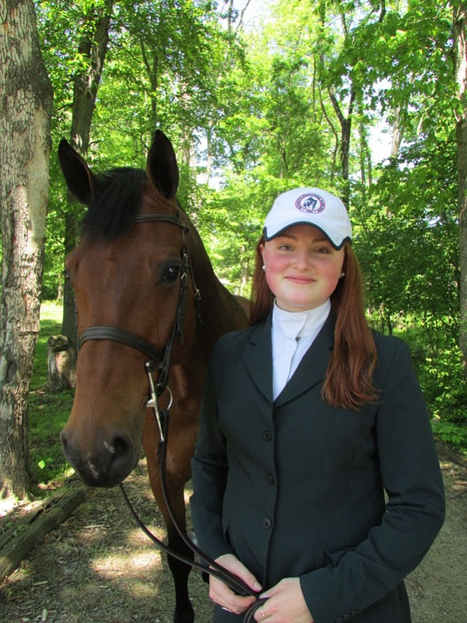 Young equestrian, Jenna Zimmerman, of Great Falls — a rising senior at Langley High School — takes up the reins as Youth Ambassador of the 2017 Washington International Horse Show.