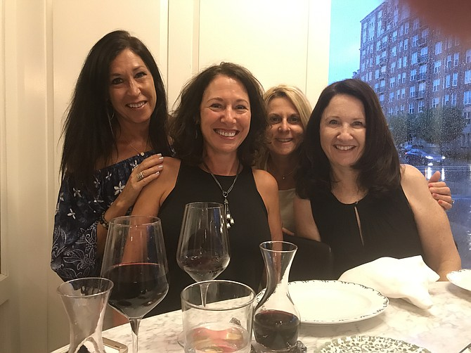 From left are Karyn Simon, Lisa Raker, Amy Gleklen and Rhonda Kaufman.