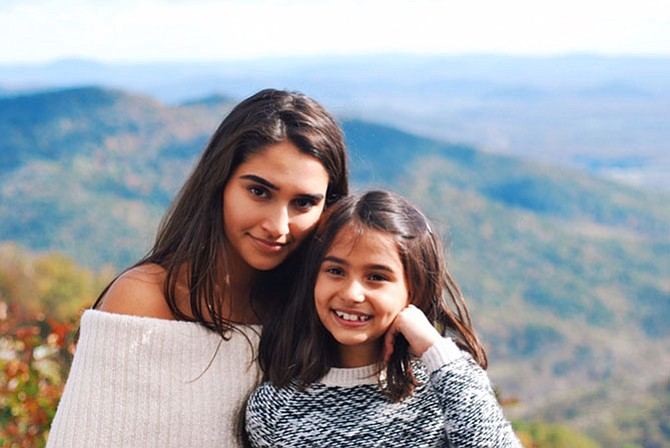 """Leela Ayyar (left) wrote """"Elara, STEM Girl"""" when her younger sister, Meera (right) sought her guidance after she encountered challenges in the STEM fields."""