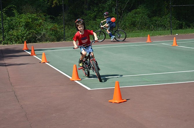 Fort Hunt Elementary School students participate in last weekend's Back to School Picnic and Bike Rodeo.
